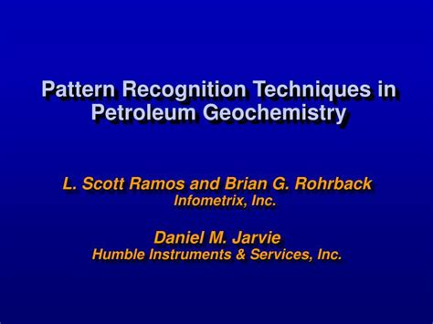 pattern recognition ppt ppt pattern recognition techniques in petroleum