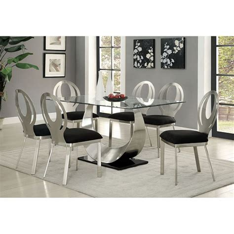 silver dining room black and silver dining room set home design ideas