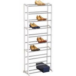lynk 30 pair shoe rack white walmart