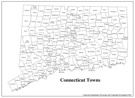 printable connecticut road map state of connecticut map printable towns
