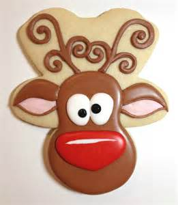 whimsical reindeer cookies with cookies with character