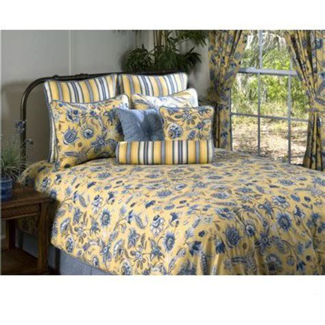 cherborg yellow blue bedding beddingnmore traditional