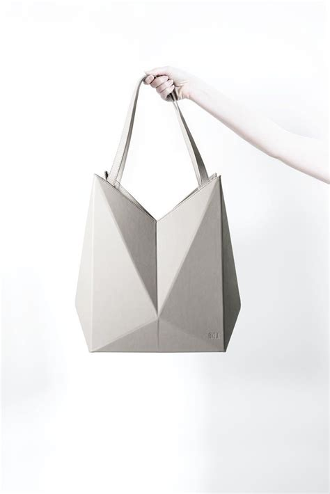 Origami Bag - geometric handbag leather origami bag innovative