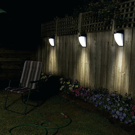 solar lights for backyard sun glow white mount solar powered wall light sgw w the