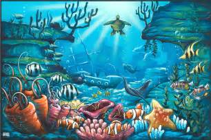 Sea Wall Murals Wall Decal Quotes Wall Mural Ideas For Kids Under The Sea