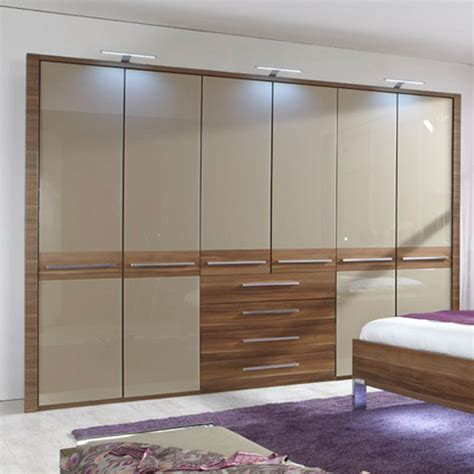 Bolero Combi Wardrobes With Black Glass Doors Furniture Glass Door Wardrobe