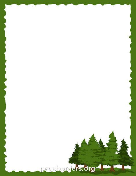 template forrest printable pine tree border use the border in microsoft