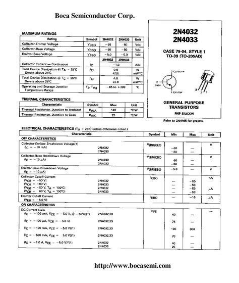 general purpose pnp transistor list buy 2n4032 pnp general purpose transistors