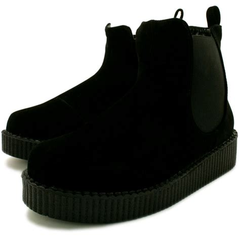 buy penelope flat creeper chelsea ankle boots black