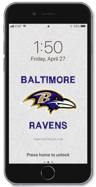 baltimore ravens lock screen schedule  iphone