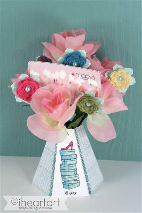 Gift Card Arrangement Ideas - paper vase flower arrangement gift card holder by tiffguam at splitcoaststers