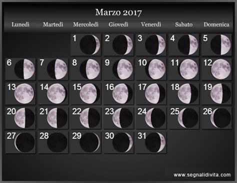 Calendario Lunare Capelli Calendario Lunare 2017 Fasi Lunari