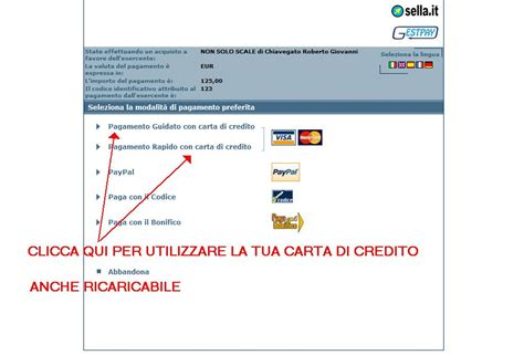 sella it la tua banca on line tipi di pagamento accettati