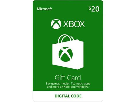 Xbox 20 Gift Card Digital Download - xbox gift card 20 us email delivery newegg com