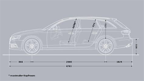 Audi A4 Avant Abmessungen by A4 A Seite 704x396 Kofferraum Abmessungen Im Avant