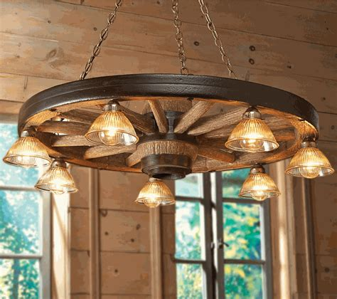 Wagon Wheel Light Fixtures Large Wagon Wheel Chandelier With Downlights