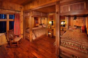 guest cabin rustic bedroom other metro by desmone