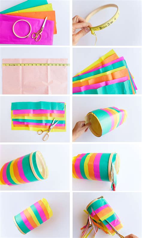 How To Make Tissue Paper Lanterns - tissue paper lantern tell and