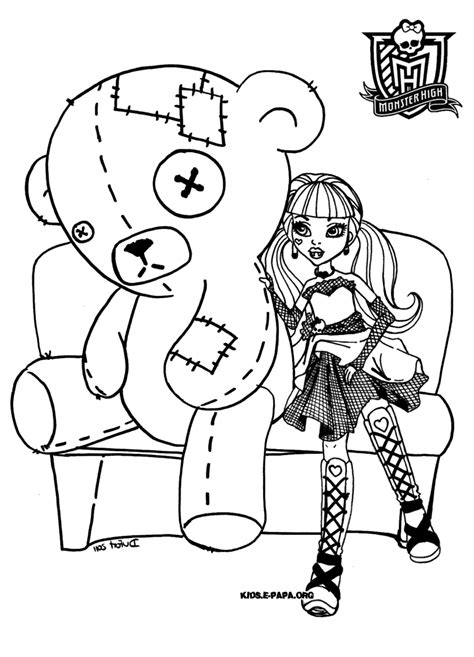 coloriage monster high catty noir coloriages 224 coloriage monster high catty noir
