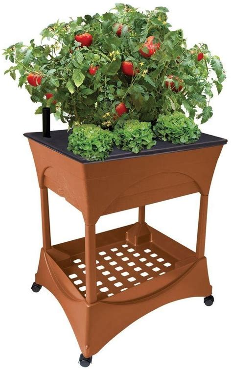 Raised Herb Planter Box by Yard Garden Raised Planter Grow Box Stand Bed Flower Herb