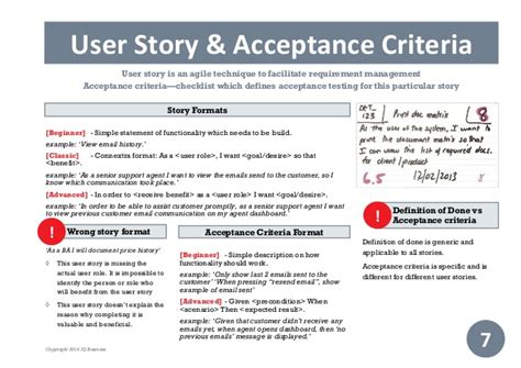Practical Guide To Scrum Business Analysis User Stories Template
