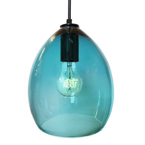 blue glass pendant light blown aqua blue glass pendant light glass pendants