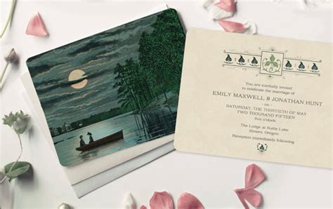 Boat Themed Wedding Invitations by Vintage Wedding Invitations Rustic Moonlight And Boat