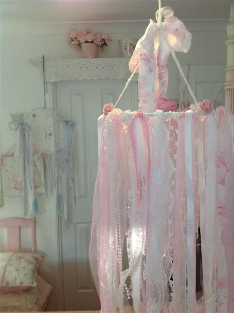 210 best shabby lace chandelier images on pinterest chandeliers decorations and ribbon chandelier