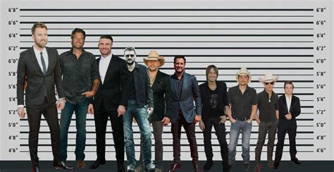 people of height 6 feet 2 inch country music stars in height order one country