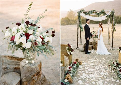 Rustic, elegant winter wedding inspiration   100 Layer Cake