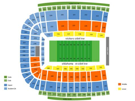 oklahoma state football stadium seating chart lewis field at boone pickens stadium seating chart