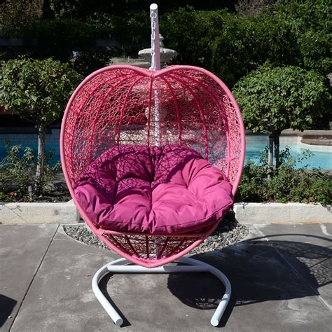 wicker swing bed pink heart shape wicker swing bed chair weaved hanging