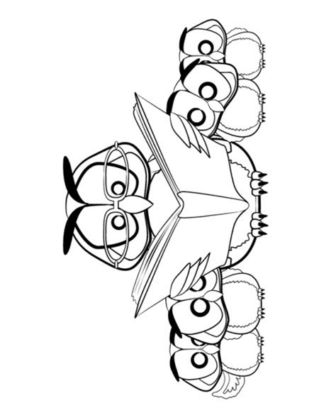 Owl Reading Coloring Page | reading owl cliparts co