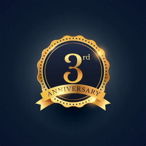3rd anniversary golden edition vector free download