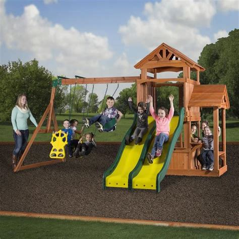 Backyard Discovery Register Cedar Play Park Wooden Swing Set