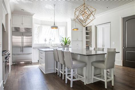 t shaped kitchen islands t shaped kitchen island with dove gray leather barstools