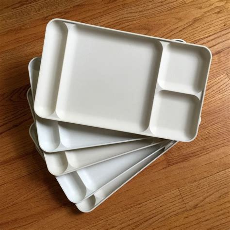 Tupperware Tray tupperware lunch trays 70s vgc set of 5 and almond