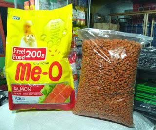 Me O Meo Salmon Repack 1kg Makanan Kucing Dewasa Cat 1 Kg makanan kucing meo segitu petshop