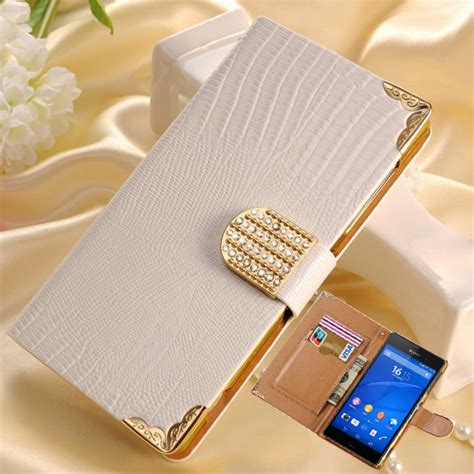 Fashion Casing Zony Z3 Batu Bling Bling aliexpress buy cover for sony z3 wallet bling flip leather for sony xperia z3 l55t