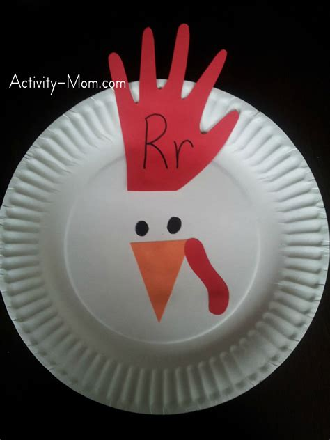 paper plate chicken craft funky traceable letters for crafts