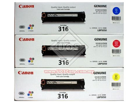 Canon Cartridge 416 Toner Cartridge Colour Yellow Cyan Magenta canon colour laser cartridge 316 cyan magenta yellow s toner airshell uos corporation