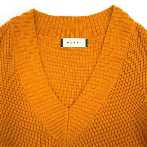 yellow knitted jumper marni s mustard yellow knitted jumper for sale at 1stdibs