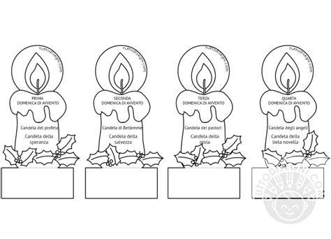 candele da colorare le candele di avvento da colorare tuttodisegni
