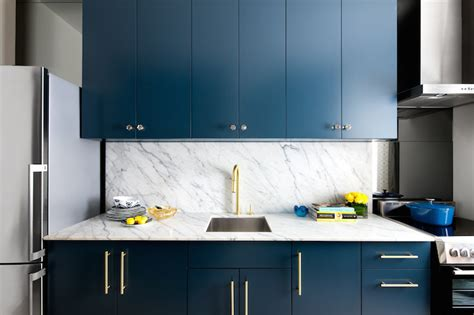 navy blue and gold kitchen navy cabinets contemporary kitchen benjamin moore