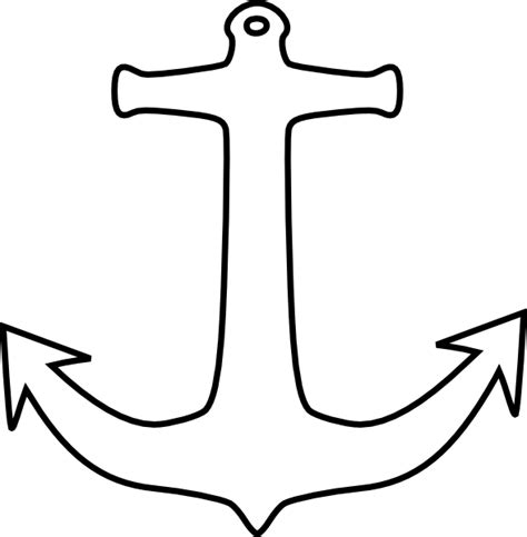 Clipart Outline anchor outline clip at clker vector clip royalty free domain