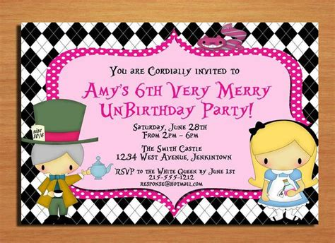 printable unbirthday card alice in wonderland very merry unbirthday party