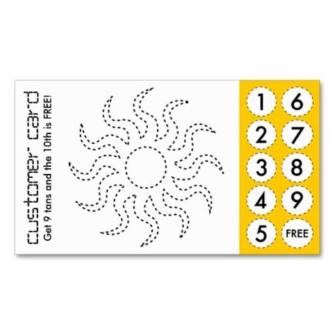 loyalty punch card template 67 best images about customer loyalty business cards on