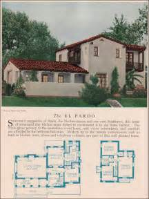 vintage american home the el pardo 1929 home builders catalog the el pardo is a