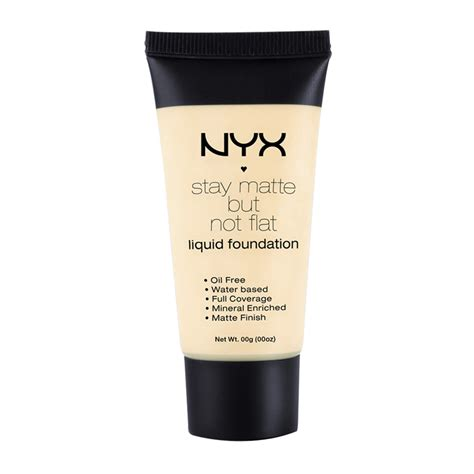 Nyx Stay Matte But Not Flat nyx professional makeup stay matte but not flat liquid foundation 35ml feelunique