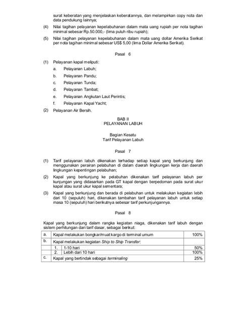 peraturan kepala bp batam tentang petunjuk pelaksanaan dan tarif pela